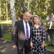 zleva, poslanec Václav Snopek, poslankyně Květa Matušovská